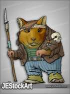 JEStockArt - Post Apocalypse - Hamster Tribesman with Military Jacket - CNB