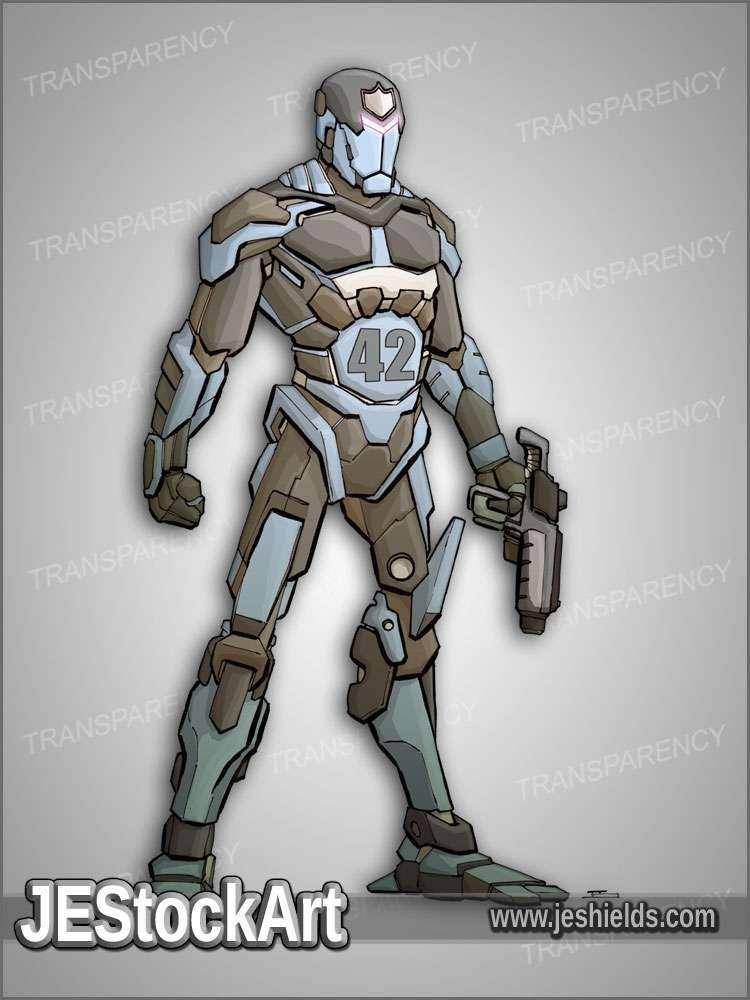 JEStockArt - SciFi - Android Police Unit - CNB