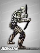 JEStockArt - SciFi - Mercenary in Skeletal Armor - CNB
