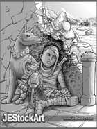 JEStockArt - Post Apocalypse - Young Child With Guerilla Tactics - GB