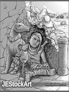 JEStockArt - Post Apocalypse - Young Child With Guerilla Tactics - GB