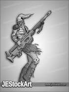 JEStockArt - Post Apocalypse - Punky Girl With Giant Rifle - GNB