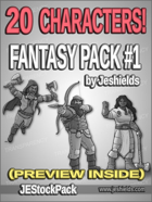 -JEStockPack- Fantasy - 20 Character Pack 01