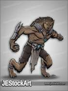 JEStockArt - Fantasy - Tribal Werewolf with Bone Armor - CNB