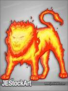 JEStockArt - Fantasy - Elemental Fire Lion - CNB