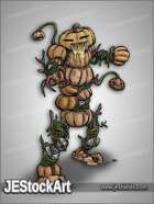 JEStockArt - Fantasy - Pumpkin Golem with Tentacles - CNB