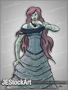 JEStockArt - Fantasy - Vampire Lady in Dress - CNB