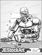 JEStockArt - SciFi - Mercenary Cyborg Gambling - LB