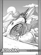 JEStockArt - SciFi - Attack of the Giant Sandfish - LB