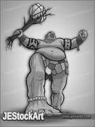 JEStockArt - Fantasy - Giant Barbarian with Tree - GNB