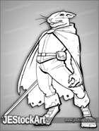 PWYW JEStockArt - Rogue Rodent with Longsword