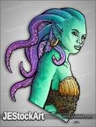 JEStockArt - Fantasy - Tentacled Mermaid Bust - HQC