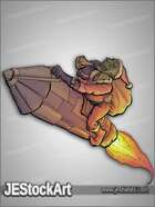 JEStockArt - Fantasy - Goblin Tinkerer With Sack And Rocket  - CNB