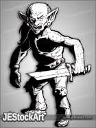 JEStockArt - Fantasy - Bald Goblin With Broken Sword - LSNB