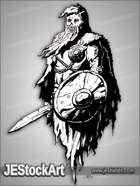 JEStockArt - Fantasy - Barrow Wight With Sword And Shield - LSNB