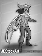 JEStockArt - Fantasy - Stylish Musketeer With Rapier - GNB