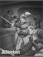 JEStockArt - Fantasy - Sword Duel In Tavern - GB