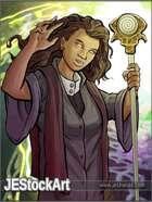 JEStockArt - Fantasy - Hypnotic Priestess With Staff - CB