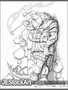JEStockArt - Fantasy - Reptillian Thinker Relaxing - GB