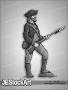 JEStockArt - History - US Colonial Militiaman - GNB