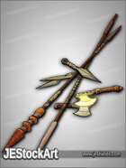 JEStockArt - Fantasy - Pile of Thrown Weapons - CNB