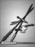 JEStockArt - Fantasy - Pile of Thrown Weapons - GNB