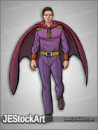 JEStockArt - Supers - Caped Gentleman in Purple Attire - CNB