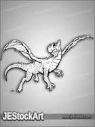 PWYW JEStockArt - Fantasy - Young Dragon in Flight - LNB