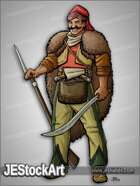 JEStockArt - History - Hajduk Warrior with Musket and Sword - CNB
