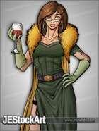 JEStockArt - Modern - Beautiful Agent with Drinking Glass - CNB