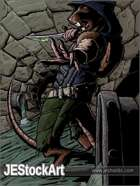 JEStockArt - Fantasy - WereRat with Poison Dagger in Sewer - CB