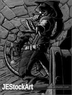 JEStockArt - Fantasy - WereRat with Poison Dagger in Sewer  - GWB