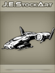 JEStockArt - SciFi - Dark Spacecraft Fighter - INB