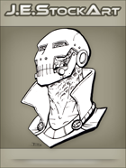 JEStockArt - Supers - Doom Like Villain Bust With Metal Face Mask - LNB