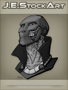 JEStockArt - Supers - Doom Like Villain Bust  - GNB