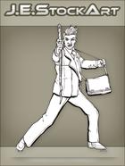 JEStockArt - Modern - Modern Mage In Suit With Staff - LNB