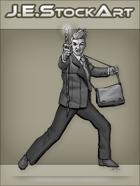 JEStockArt - Modern - Modern Mage In Suit With Staff - GNB