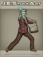 JEStockArt - Modern - Modern Mage In Suit With Staff - CNB