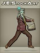 JEStockArt - Modern - Modern Mage In Suit With Staff - CNB