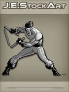 JEStockArt - Supers - Martial Artist With Collapsible Staff - GNB
