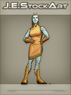 JEStockArt - SciFi - Alien Lady In Dress With Antennae - CNB