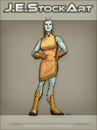 JEStockArt - SciFi - Alien Lady In Dress With Antennae - CNB
