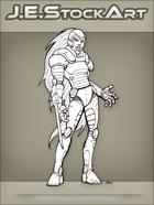 JEStockArt - SciFi - Cyberwoman With Retractable Sword - INB