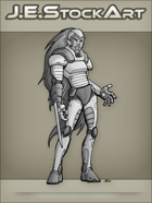 JEStockArt - SciFi - Cyberwoman With Retractable Sword - GNB