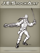 JEStockArt - Fantasy - Swordsman I n Fancy Garb With Crossbow - LNB