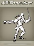 JEStockArt - Fantasy - Swordsman I n Fancy Garb With Crossbow - LNB