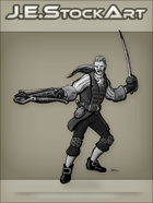 JEStockArt - Fantasy - Swordsman In Fancy Garb With Crossbow - GNB