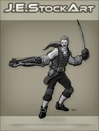 JEStockArt - Fantasy - Swordsman In Fancy Garb With Crossbow - GNB