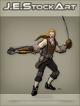 JEStockArt - Fantasy - Swordsman In Fancy Garb With Crossbow - CNB