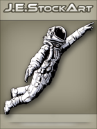 JEStockArt - Modern - Astronaut Reaching Upward - INB